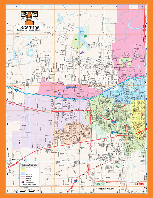 Map Of Texarkana Texarkana Independent School District